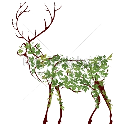 stock vector: deer illustration-Raw Stock Photo ID: 24344