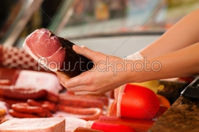 stock photo: display in a butchers shop-Raw Stock Photo ID: 41921