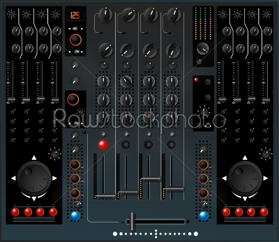stock vector: dj mixer-Raw Stock Photo ID: 24315