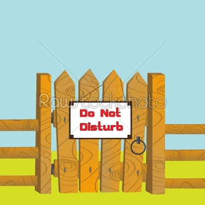 stock vector: do no disturb-Raw Stock Photo ID: 24367