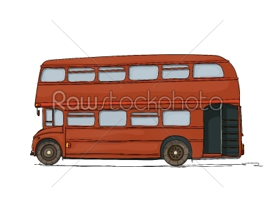 stock vector: double decker bus-Raw Stock Photo ID: 26238