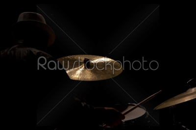 stock photo: drum set with focus on hihat cymbal-Raw Stock Photo ID: 28717
