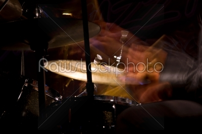stock photo: drum set with focus on hihat cymbal-Raw Stock Photo ID: 28719