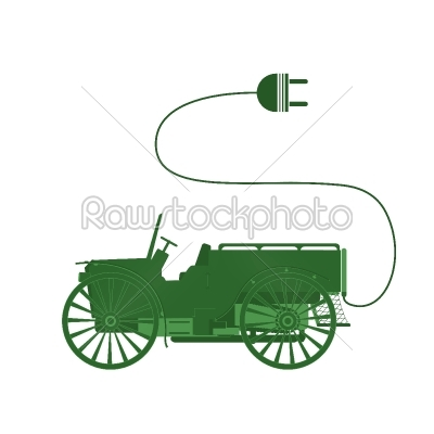 stock vector: electric car-Raw Stock Photo ID: 24390
