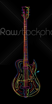 stock vector: electric guitar-Raw Stock Photo ID: 24392
