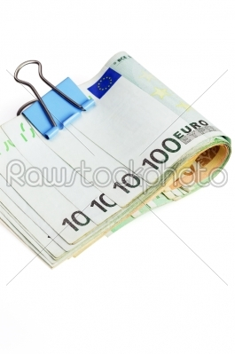 stock photo: euro bills and clip-Raw Stock Photo ID: 30607