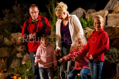 stock photo: family at the barbecue in the evening-Raw Stock Photo ID: 40151