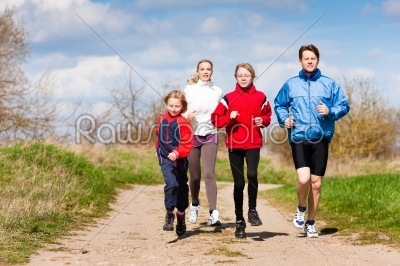 stock photo: family is running outdoors-Raw Stock Photo ID: 44507