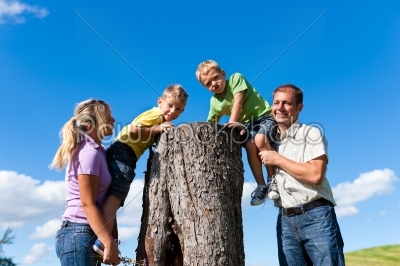 stock photo: family on excursion in summer-Raw Stock Photo ID: 42851