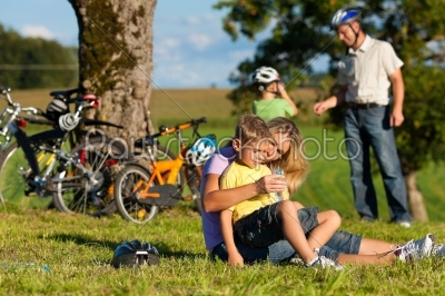 stock photo: family on getaway with bikes-Raw Stock Photo ID: 42884