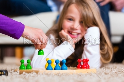 stock photo: family playing board game at home-Raw Stock Photo ID: 44730