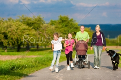 stock photo: family with children and dog having walk-Raw Stock Photo ID: 40147