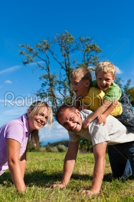 stock photo: family with children playing on a meadow-Raw Stock Photo ID: 42875
