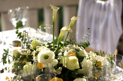 stock photo: fancy table set for a wedding-Raw Stock Photo ID: 27999