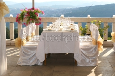 stock photo: fancy table set for a wedding-Raw Stock Photo ID: 28003