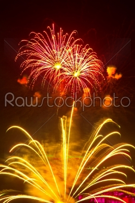 stock photo: fantastic colorful fireworks with black copyspace-Raw Stock Photo ID: 27992
