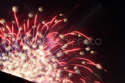 stock photo: fantastic colorful fireworks with black copyspace-Raw Stock Photo ID: 28274