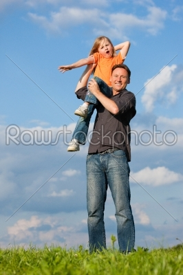 stock photo: father and child playing together-Raw Stock Photo ID: 39075