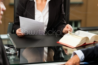 stock photo: female lawyer or notary in her office-Raw Stock Photo ID: 42626