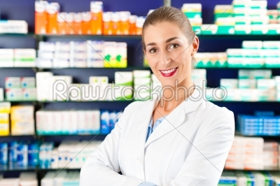 stock photo: female pharmacist in pharmacy-Raw Stock Photo ID: 41167