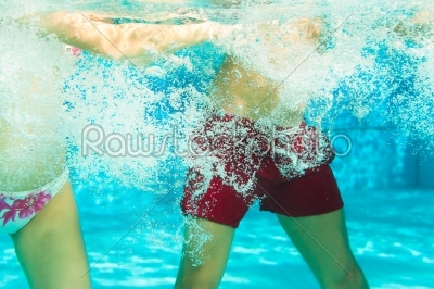 stock photo: fitness  sports and gymnastics under water in swimming pool or spa-Raw Stock Photo ID: 43790