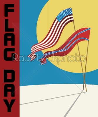 stock vector: flag day card-Raw Stock Photo ID: 24430
