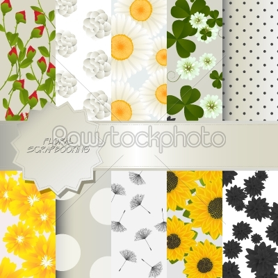 stock vector: floral scrapbooking-Raw Stock Photo ID: 24448