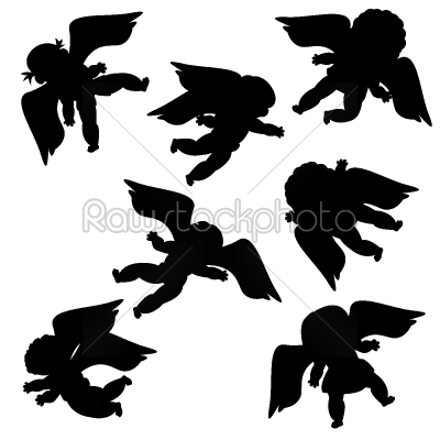 stock vector: flying angels-Raw Stock Photo ID: 24452