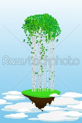 stock vector: flying forest-Raw Stock Photo ID: 24454