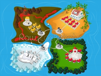 stock vector: four kindom map-Raw Stock Photo ID: 24461