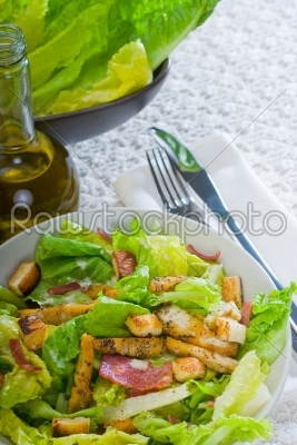stock photo: fresh homemade ceasar salad-Raw Stock Photo ID: 37389