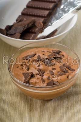 stock photo: fresh homemade chocolate mousse-Raw Stock Photo ID: 37432