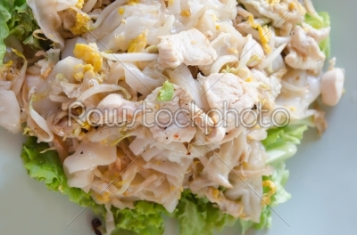 stock photo: fried noodles with chicken-Raw Stock Photo ID: 23764