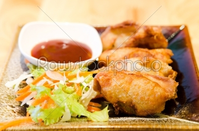 stock photo: fried wonton-Raw Stock Photo ID: 20521