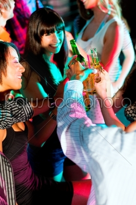 stock photo: friends dancing in club or disco-Raw Stock Photo ID: 39729