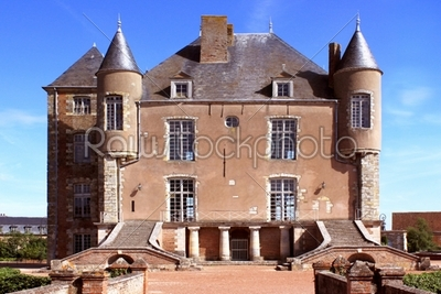stock photo: front of castle of bellegarde-Raw Stock Photo ID: 25673