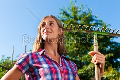 stock photo: gardening in summer  woman with grate-Raw Stock Photo ID: 42559