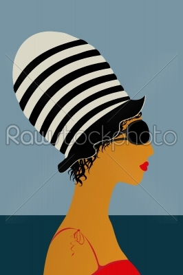 stock vector: girl at the beach-Raw Stock Photo ID: 24493
