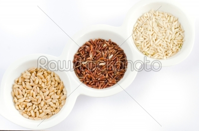 stock photo: grains on white bowl-Raw Stock Photo ID: 20496