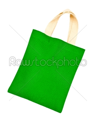stock photo: green cotton bag on white isolated background -Raw Stock Photo ID: 32009