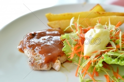stock photo: grilled pork-Raw Stock Photo ID: 19857