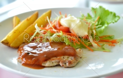 stock photo: grilled pork-Raw Stock Photo ID: 19858