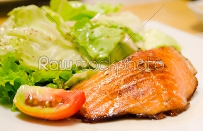 stock photo: grilled salmon -Raw Stock Photo ID: 20702