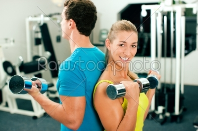 stock photo: gym training with dumbbells-Raw Stock Photo ID: 40606