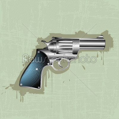 stock vector: hand gun background-Raw Stock Photo ID: 24538