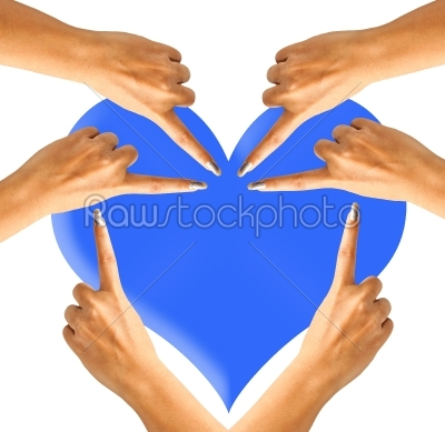 stock photo: hands and fingers heart-Raw Stock Photo ID: 31990