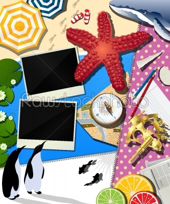 stock vector: holiday scrapbook-Raw Stock Photo ID: 24562