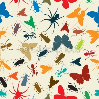 stock vector: insects pattern-Raw Stock Photo ID: 24584