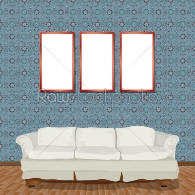 stock vector: interior with sofa-Raw Stock Photo ID: 24586