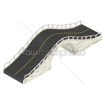 stock vector: isometric stone bridge-Raw Stock Photo ID: 24591